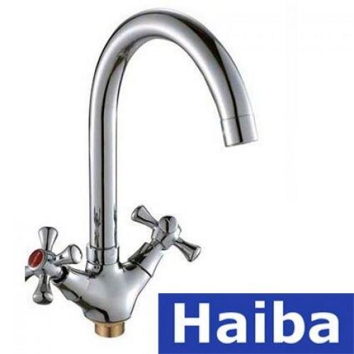 Смеситель для кухни HAIBA на гайке SMES (Chr-275)