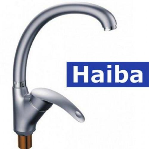 Смеситель для кухни Ухо на гайке HAIBA MARS SATIN-777 (nut)