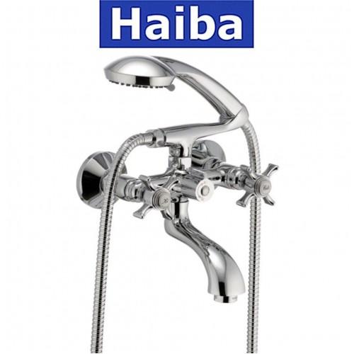 Смеситель для ванны короткий нос HAIBA ZEUS EURO (Chr-142)