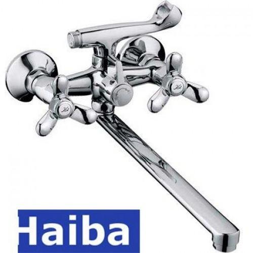 Смеситель для ванны длинный нос HAIBA VILTA EURO (Chr-140)