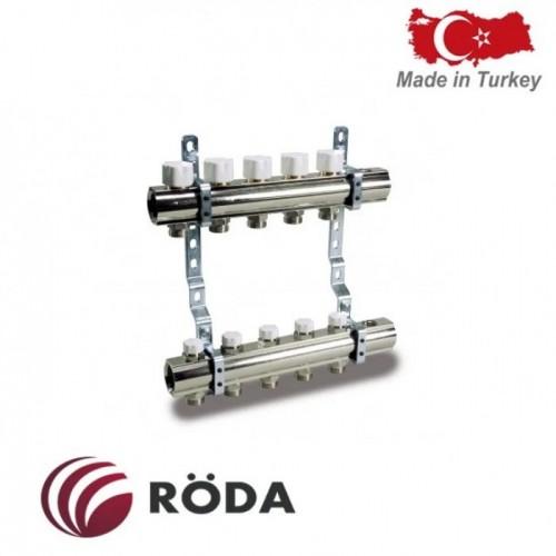 Группа коллекторная Roda с расходомером и зап. клапанами 4 выхода