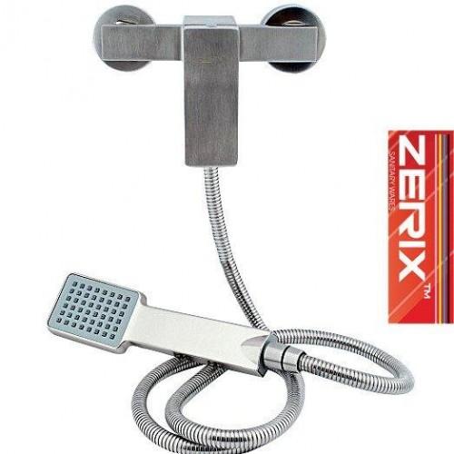Смеситель для душевой кабины ZERIX LR72033 (нержавейка)