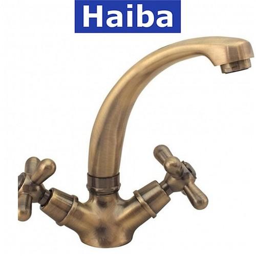 Смеситель для кухни ухо HAIBA Dominox (Chr-272) BRONZE