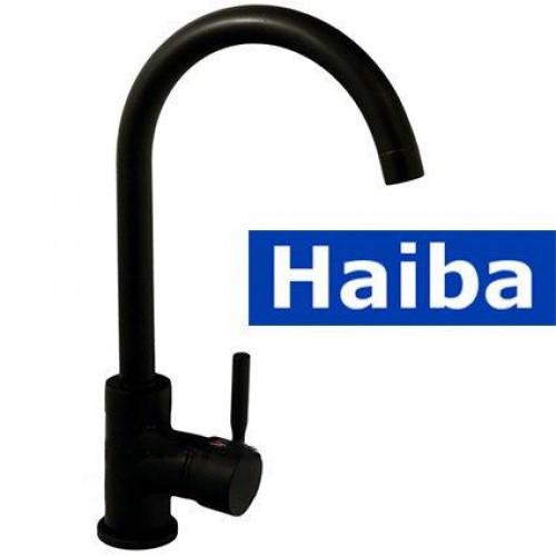 Смеситель для кухни Ухо HAIBA HANS BLACK-011 (черный)