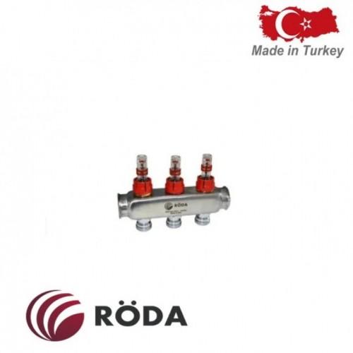 Коллектор распределительный Roda с расходомерами 4 выхода