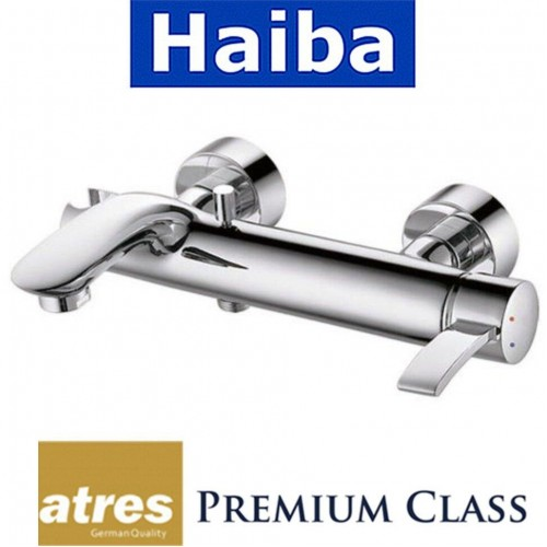Смеситель для ванны короткий нос HAIBA LATRES ALASKA (Chr-009)