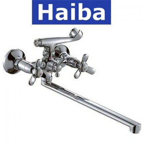 Смеситель для ванны длинный нос HAIBA VILTA (Chr-143)
