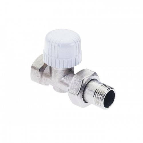 """Прямой термостатический вентиль с преднастройкой для железной трубы (1/2"""" - 30х1,5)"""