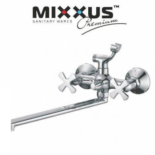 Смеситель для ванны длинный нос MIXXUS Premium Fobos Euro (Chr-006), Польша