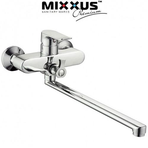 Смеситель для ванны длинный нос Mixxus Nobel Euro (Chr-006)