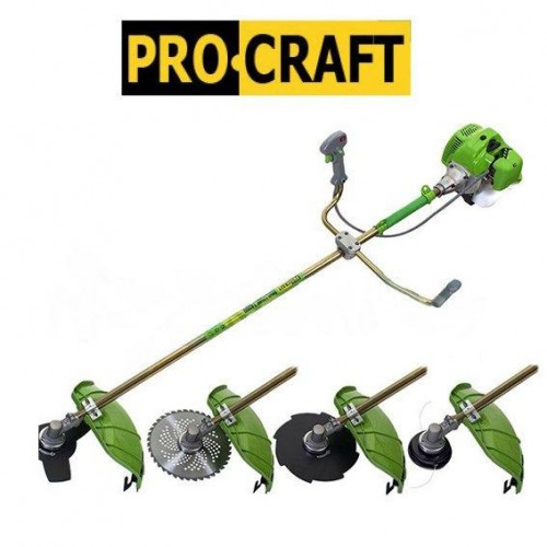 Бензокоса ProCraft T4200 (3 ножа (40Т победит, 3Т, 8Т) и 1 катушка-леска) штанга 28см