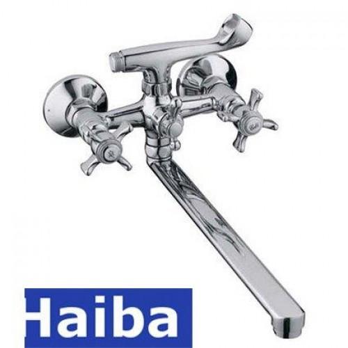 Смеситель для ванны длинный нос HAIBA Zeus (Chr-143)