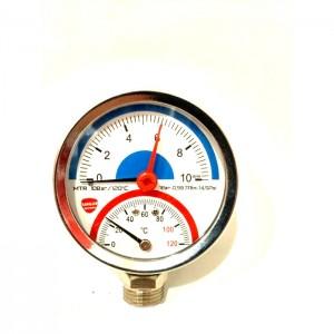 """MTR - 10 BAR/120c 1/4""""*1/2"""" Вертикальный Ман с термом."""