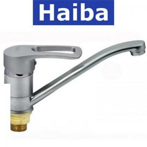 Смеситель для кухни елка на гайке HAIBA HANSBERG SATIN (Chr-555) 25см
