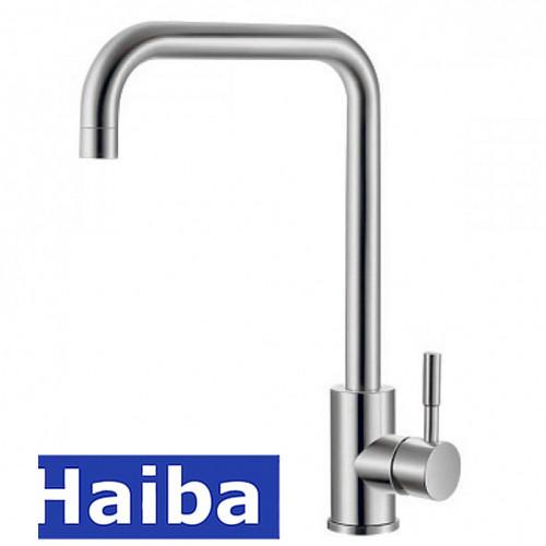 Смеситель для кухни Ухо HAIBA Sus 011G из нержавеющей стали