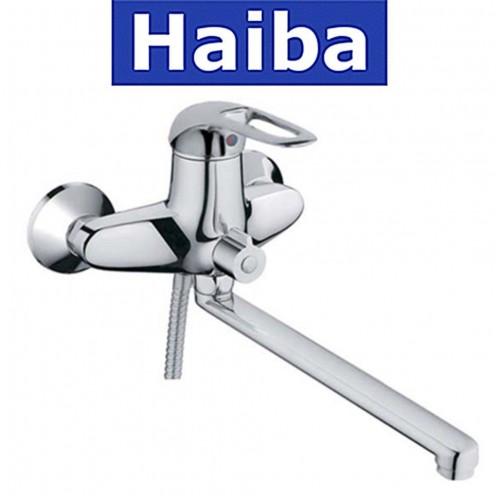 Смеситель для ванны длинный нос HAIBA COSMOS EURO (Chr-006)