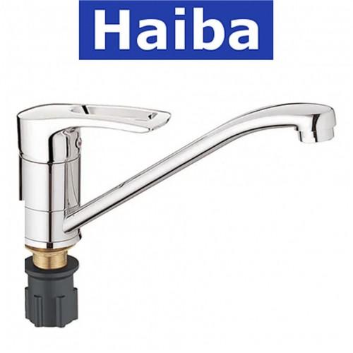Смеситель для кухни елка на гайке 25см HAIBA Germes (Chr-555)