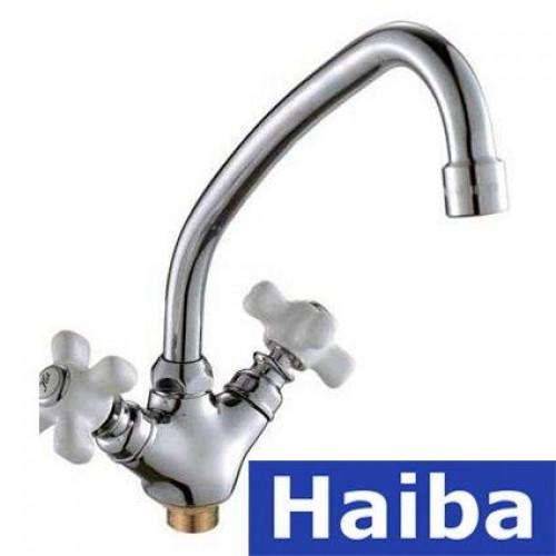 Смеситель для кухни ухо на гайке HAIBA ODYSSEY (Chr-271)