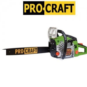 Бензопила ProCraft K450L металл (1 шина 1 цепь+ доп. воздушный фильтр)