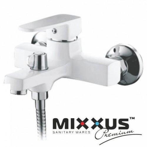 Смеситель для ванны короткий нос MIXXUS Missouri Euro White (белый) (Chr-009), Польша