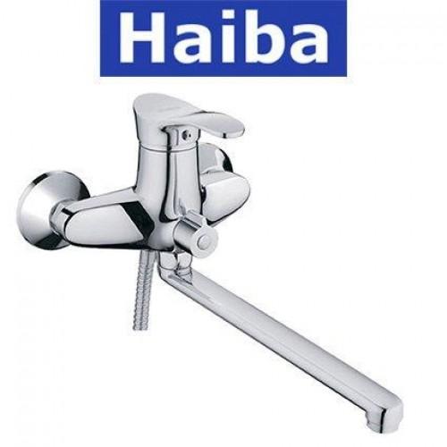 Смеситель для ванны длинный нос HAIBA ERIS EURO (Chr-006)