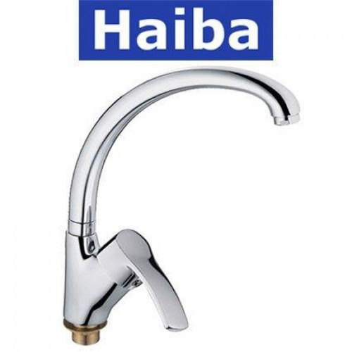 Смеситель для кухни Ухо на гайке HAIBA FOCUS Chr-777 (nut)