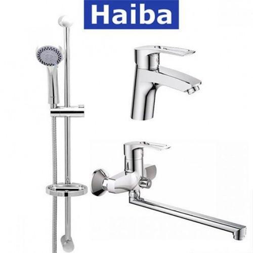 Комплект в ванную комнату HAIBA Hansberg Set-3 (умывальник, ванна длинная, душевая стойка)