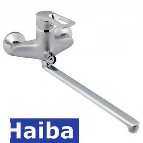 Смеситель для ванны длинный нос HAIBA HANSBERG SATIN Chr-006 (euro)