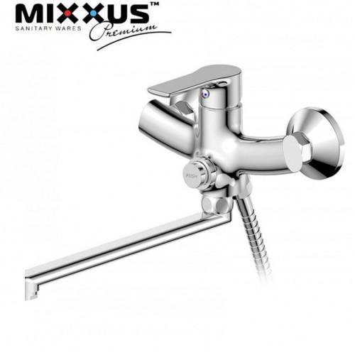Смеситель для ванны длинный нос MIXXUS Premiun Push EURO (Chr-006), Польша