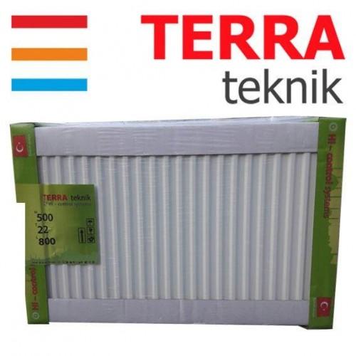 Радиатор стальной TERRA teknik т22 500*500 (боковое подключение)