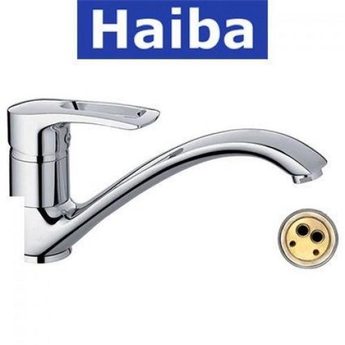Смеситель для кухни елка литая HAIBA HANSBERG (Chr-012)
