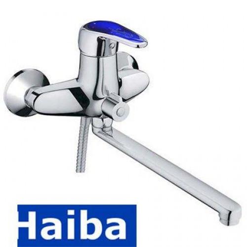 Смеситель для ванны длинный нос HAIBA MAGIC BLUE EURO (Chr-006)