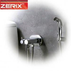 Встраиваемый смеситель для гигиенического душа и бачка унитаза с лейкой Zerix Z5398-1