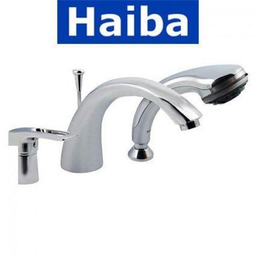 Смеситель ванна врезная HAIBA HANSBERG 3 отверстия (Chr-022)