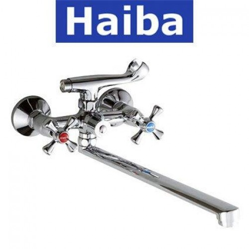 Смеситель для ванны длинный нос HAIBA SMES EURO (Chr-140)