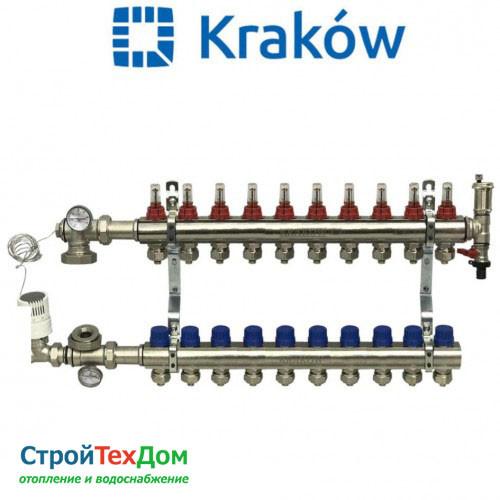 Коллектор для теплого пола KRAKOW на 10 контуров (ПОЛЬША)