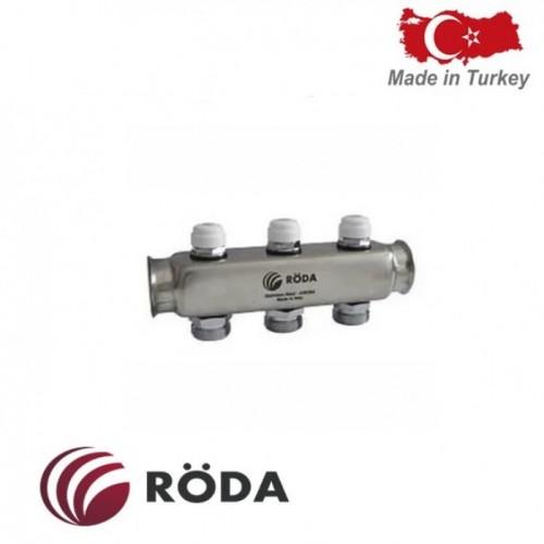 Коллектор распределительный Roda с зап. Клапаном 4 выхода