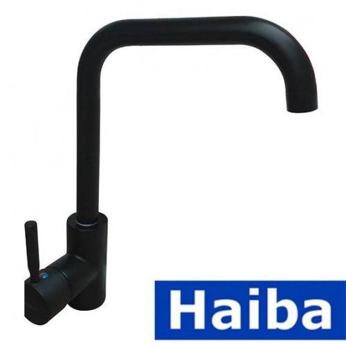 Смеситель для кухни Ухо HAIBA HANS Chr-011 G Black (черный)
