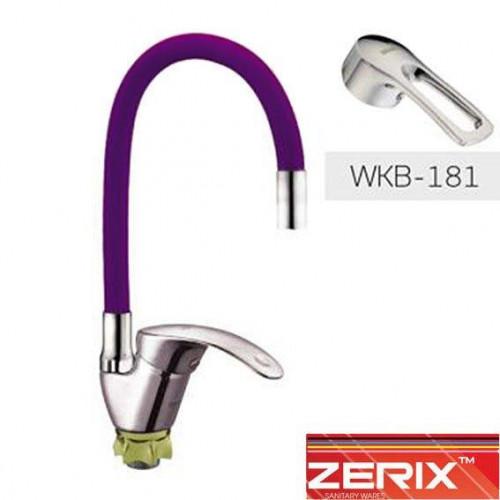 Смеситель для кухни рефлекторный гусак Zerix YAB-181 Purple