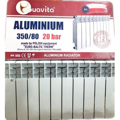 Алюминиевый радиатор отопления Aquavita 350/80 (Original)