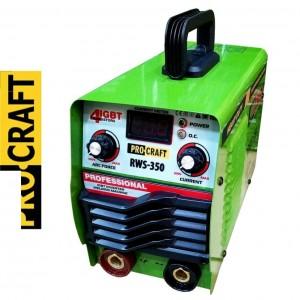 Сварочный аппарат инверторный ProCraft RWS-350 (4 IGBT транзистора, широкие клемы, легкий розжиг, защита от