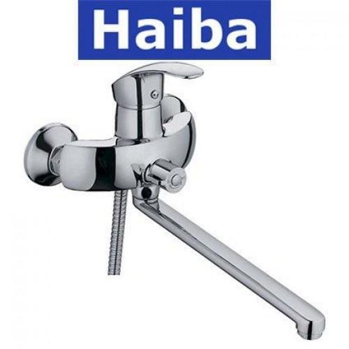 Смеситель для ванны длинный нос HAIBA Mars EURO (Chr-006)