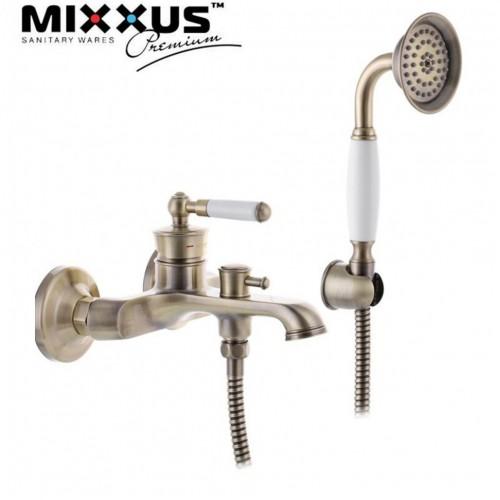Смеситель для ванны короткий нос MIXXUS Premium Vintage Bronze Euro (Chr-009), Польша