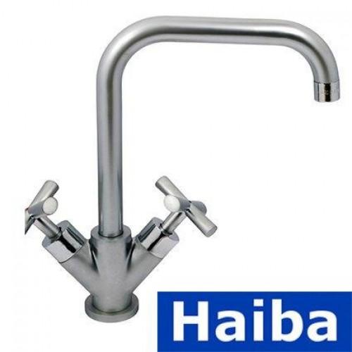 Смеситель для кухни Ухо HAIBA SENTOSA SATIN J (Chr-011)