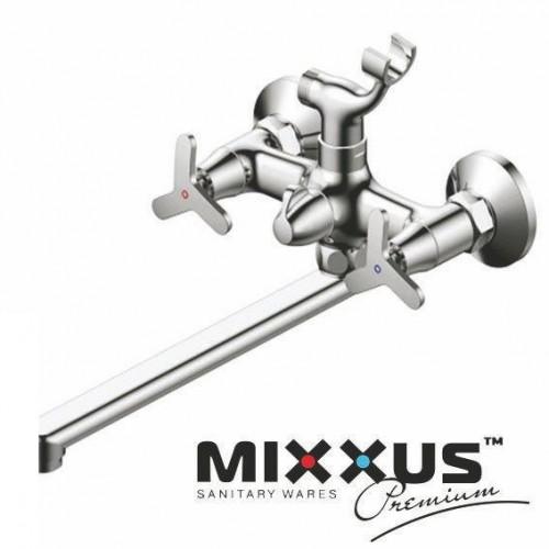 Смеситель для ванны длинный нос MIXXUS Premium Apollo Euro (Chr-140), Польша