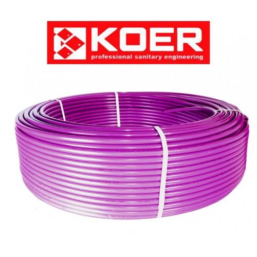 Труба для теплого пола с кислородным барьером  KOER LUX PINK D16Х2 мм, ЧЕХИЯ