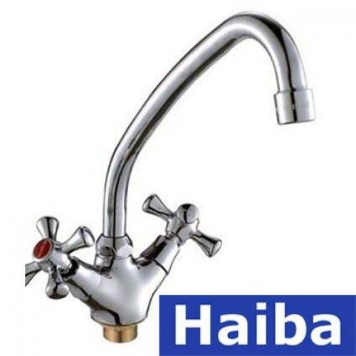 Смеситель для кухни ухо на гайке HAIBA SMES (Chr-271)