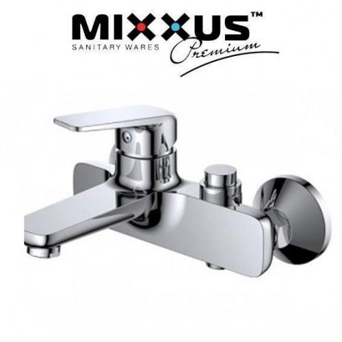 Смеситель для ванны короткий нос Mixxus Oregon (переключение на кнопке) (Chr-009)      4.00 1