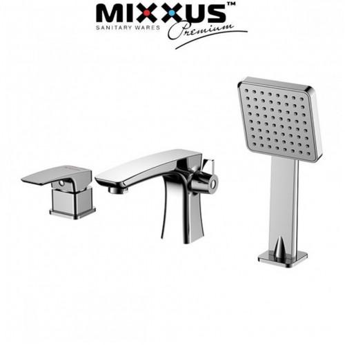 Смеситель для ванны врезная MIXXUS Premium Patrick Euro на 3 отверстия (Chr-022), Польша