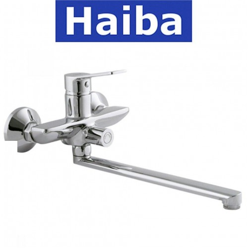 Смеситель для ванны длинный нос HAIBA DIANA EURO (Chr-006)